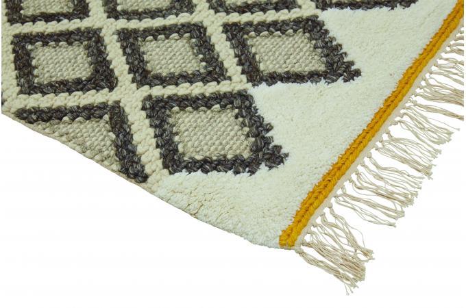 tapis 120x170 laine de new zealand ecru na si d co design sur sofactory. Black Bedroom Furniture Sets. Home Design Ideas