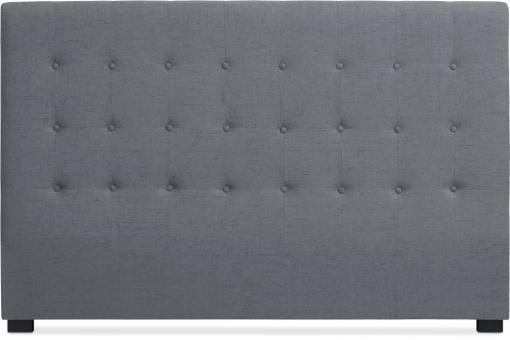 t te de lit tissu gris 180 cm luxury design sur sofactory. Black Bedroom Furniture Sets. Home Design Ideas
