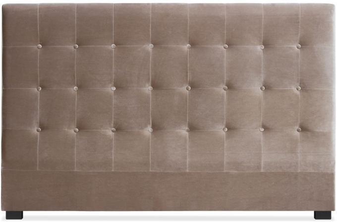 t te de lit capitonn e 180 cm velours taupe ambrosia. Black Bedroom Furniture Sets. Home Design Ideas