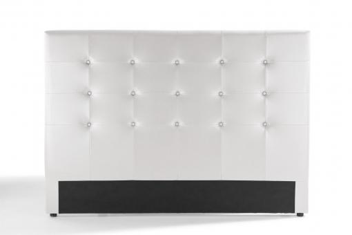 t te de lit capitonn e blanche 160x200 orlena design sur sofactory. Black Bedroom Furniture Sets. Home Design Ideas