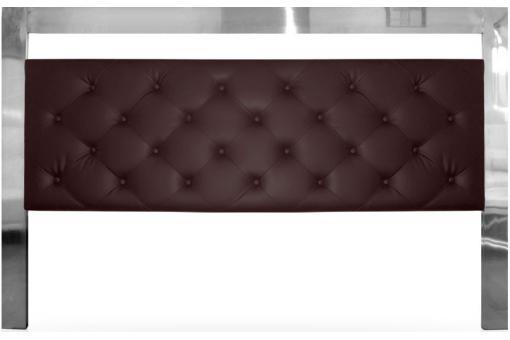 T te de lit capitonn e 180 cm marron cadre inox chrom player design pas cher - Tete de lit 180 cm pas cher ...