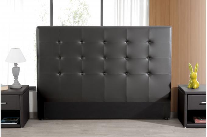 Tête De Lit Capitonnée Noire 180x200 Orlena Design Sur Sofactory