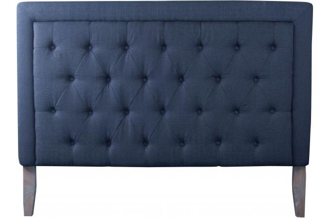 t te de lit en tissu capitonn gris anthracite 160x120x11 lindy design pas cher sur sofactory. Black Bedroom Furniture Sets. Home Design Ideas