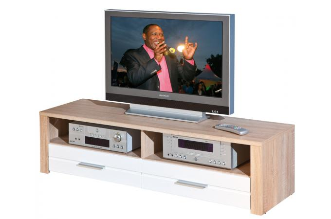 meuble tv en chne 150 x 40 cm absoluto