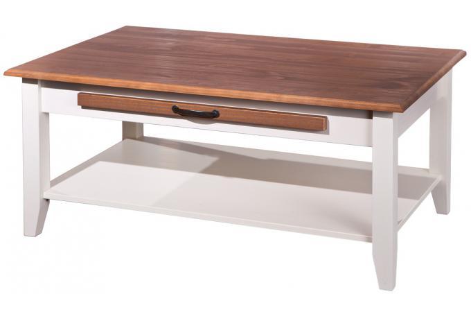 table basse rectangulaire en bois 100 x 60 cm blanche cassala design sur sofactory. Black Bedroom Furniture Sets. Home Design Ideas