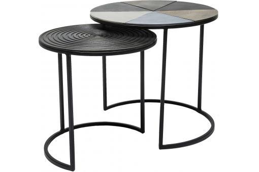 set de 2 tables d 39 appoint nuovo design pas cher sur sofactory. Black Bedroom Furniture Sets. Home Design Ideas