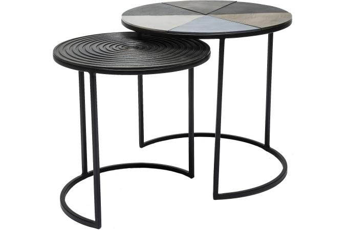 set de 2 tables d 39 appoint nuovo design pas cher sur sofactory. Black Bedroom Furniture Sets. Home Design Ideas