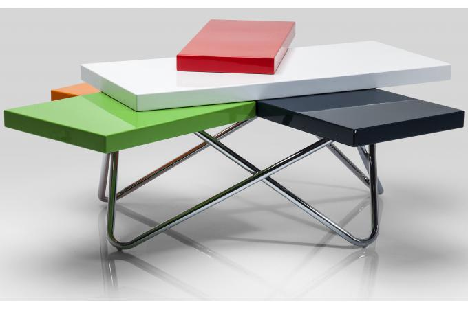 table basse colore 105x94cm kao design pas cher sur sofactory. Black Bedroom Furniture Sets. Home Design Ideas