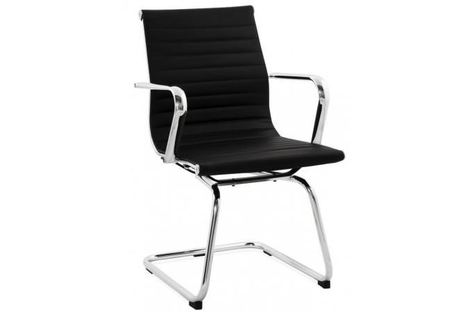 Chaise de bureau noire wilhelm design sur sofactory