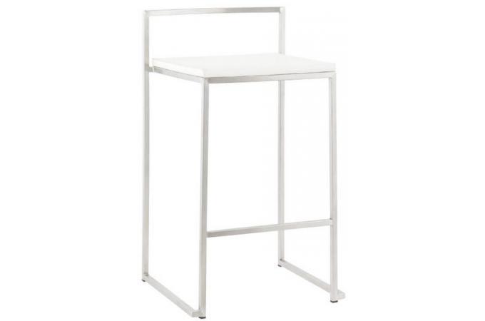 Tabouret de bar design blanc filo design sur sofactory - Tabouret de bar design blanc ...