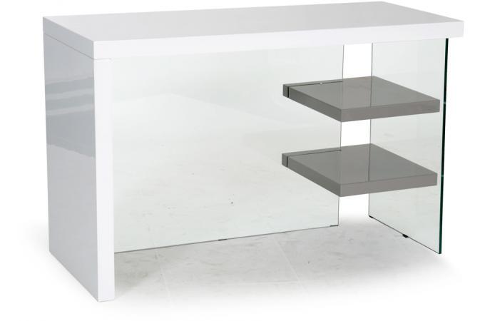 bureau blanc gris munich design pas cher sur sofactory. Black Bedroom Furniture Sets. Home Design Ideas