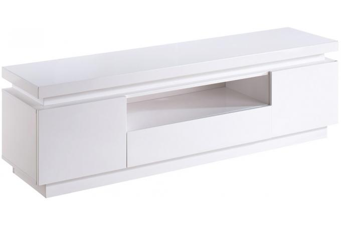 Meuble Tv En Led : Meuble Tv Led En Mdf Blanche Lucio
