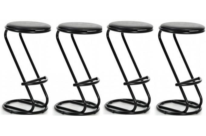 lot de 4 tabourets de bar noirs mayor design pas cher sur sofactory. Black Bedroom Furniture Sets. Home Design Ideas