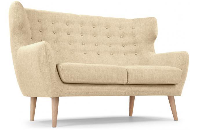 canap scandinave 2 places tissu beige montana design pas cher sur sofactory. Black Bedroom Furniture Sets. Home Design Ideas