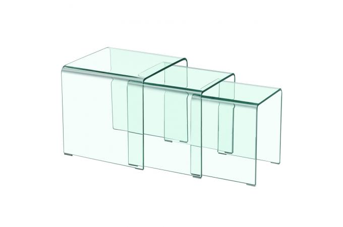 table basse gigogne transparente ottawa design sur sofactory. Black Bedroom Furniture Sets. Home Design Ideas