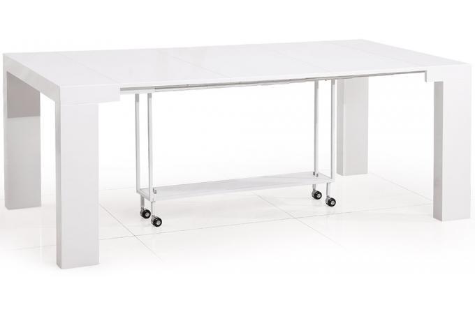 table console castille blanc laqu bastille design pas cher sur sofactory. Black Bedroom Furniture Sets. Home Design Ideas