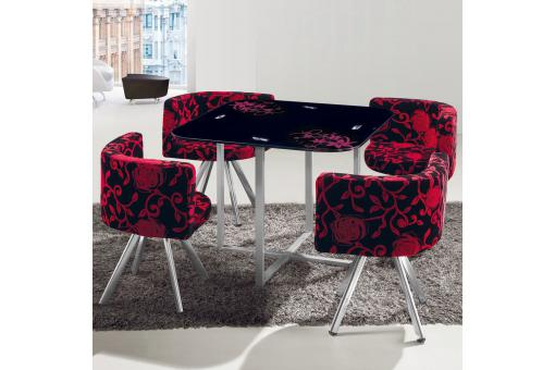 Table Verre Rouge ME89758-0000