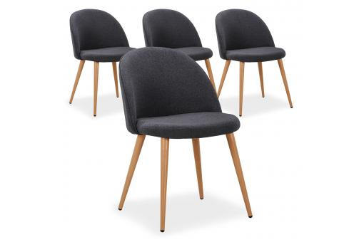 Lot de 4 Chaises Scandinaves Gris DERCY SoFactory