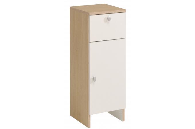 armoire de salle de bain sur pieds en imitation bois blanche hilda design pas cher sur sofactory. Black Bedroom Furniture Sets. Home Design Ideas