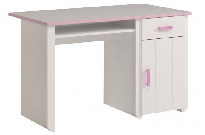 Bureau en imitation bois rose et blanc magellan design sur sofactory