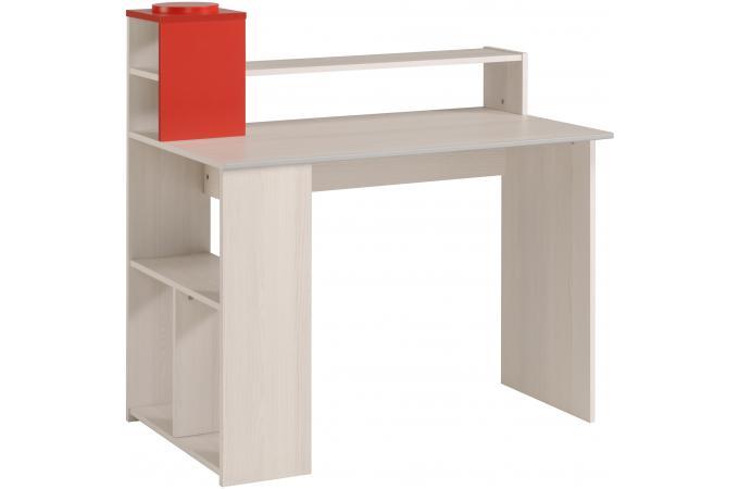 Bureau en bois avec rangements zudo beige design pas cher - Rangement bureau bois ...