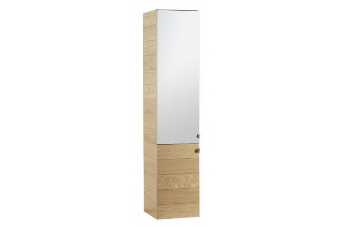Colonne en panneau de particules marron bradley design en - Salle de bain couleur bois ...