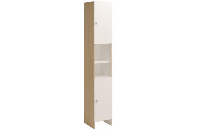 colonne de salle de bain en imitation bois blanche hilda design pas cher sur sofactory. Black Bedroom Furniture Sets. Home Design Ideas