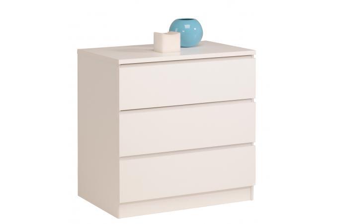 commode en imitation bois blanche 3 tiroirs candy design sur sofactory. Black Bedroom Furniture Sets. Home Design Ideas