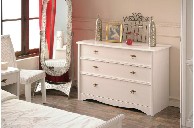 Commode 3 Tiroirs Decor Pin SERENA