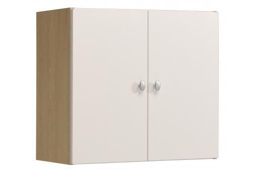 armoire murale de salle de bain en imitation bois blanche 2 portes hilda design pas cher sur. Black Bedroom Furniture Sets. Home Design Ideas