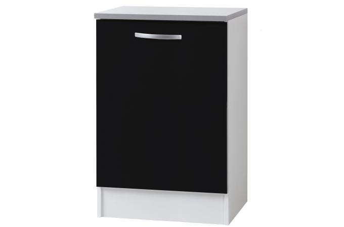 El ment de bas de cuisine en panneau de particules noir for Panneau meuble cuisine