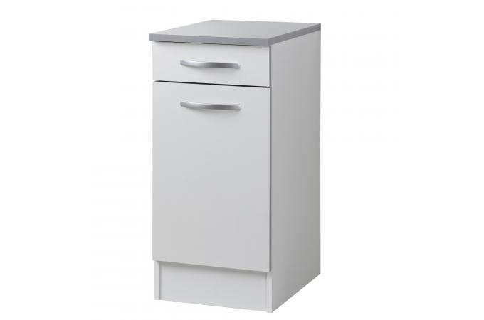 el ment de bas de cuisine en panneau de particules blanc 1 porte albert design sur sofactory. Black Bedroom Furniture Sets. Home Design Ideas