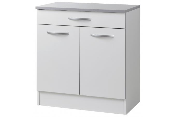 el ment de bas de cuisine en panneau de particules blanc. Black Bedroom Furniture Sets. Home Design Ideas