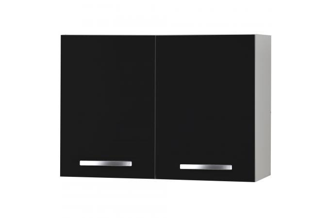 El ment de haut de cuisine en panneau de particules noir for Panneau meuble cuisine