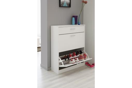 meuble chaussure en panneau de particules blanc 3 compartiments reale design sur sofactory. Black Bedroom Furniture Sets. Home Design Ideas