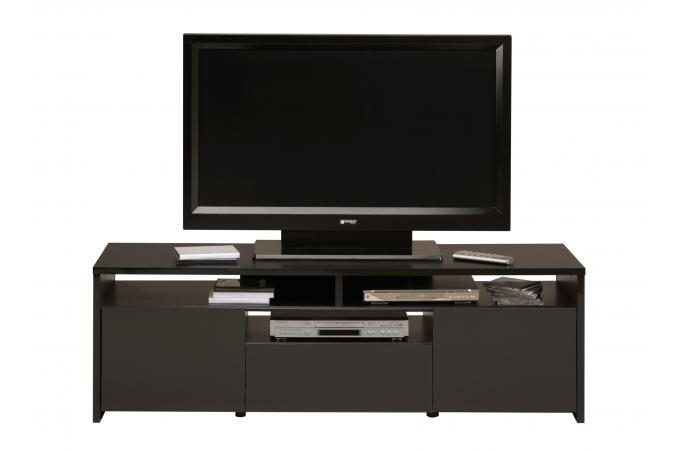 meuble tv en panneau de particules noir abelin design pas cher sur sofactory. Black Bedroom Furniture Sets. Home Design Ideas