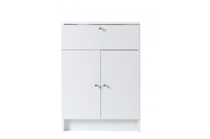 Petite armoire de salle de bain en imitation bois blanche medicisse design sur sofactory - Armoire salle de bain bois ...