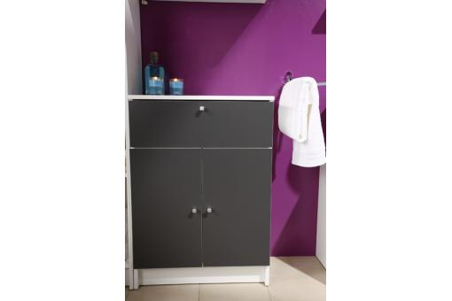 petite armoire de salle de bain en imitation bois anthracite medicisse design sur sofactory. Black Bedroom Furniture Sets. Home Design Ideas