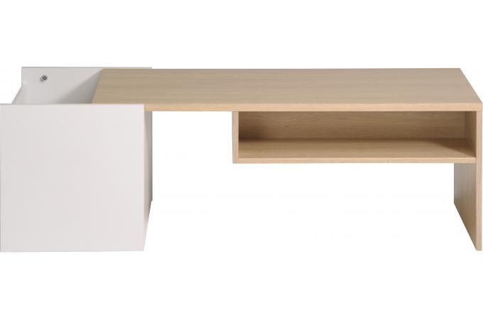 Table basse coulissante avec niche de rangement glosse - Table basse coulissante ...