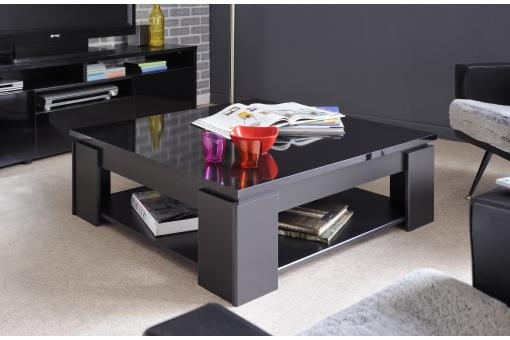 Table Basse En Melamine Brillante Noire TERTIO PA90138-0000