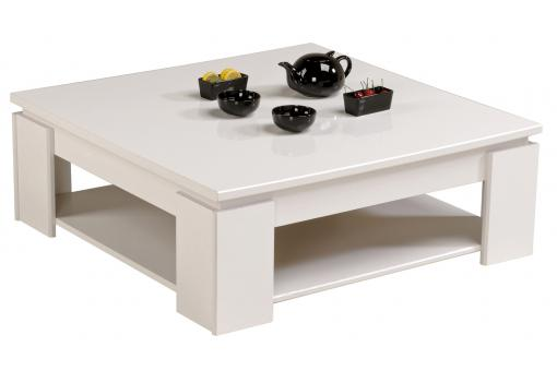 Table Basse Brillante En Blanc TERTIO SoFactory
