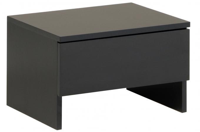 table de chevet en imitation bois noire 1 tiroir vega design sur sofactory. Black Bedroom Furniture Sets. Home Design Ideas