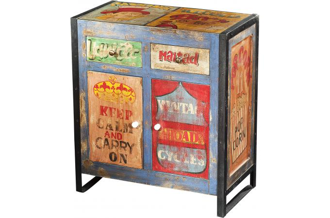 Commode vintage multicolore CAMBELL