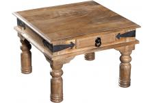 Table basse carré en bois naturel MAKASSAR
