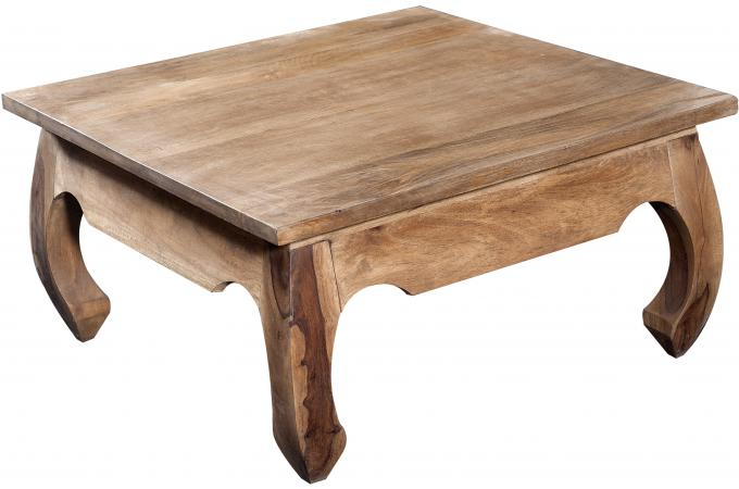 Table basse carrée en bois naturel KABAENA SoFactory