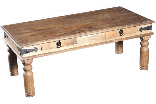Table basse coloris naturel rectangulaire en bois tobea for Table basse en bois naturel