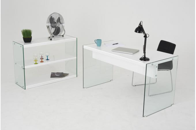 Résultat supérieur bureau verre trempé blanc meilleur de bureau