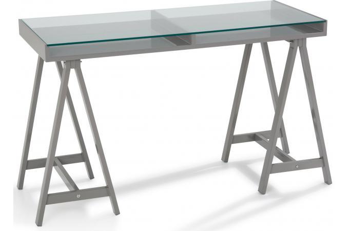 Bureau en imitation bois gris terence design sur sofactory