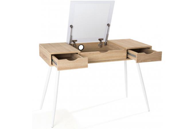 bureau scandinave bois et blanc study design sur sofactory. Black Bedroom Furniture Sets. Home Design Ideas