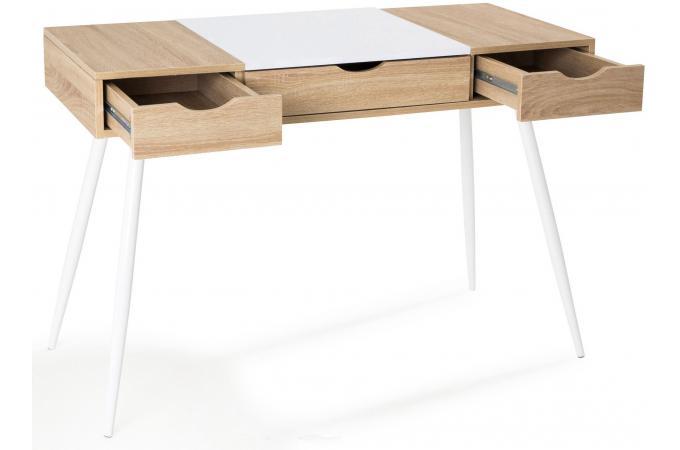 Bureau scandinave bois et blanc study design sur sofactory